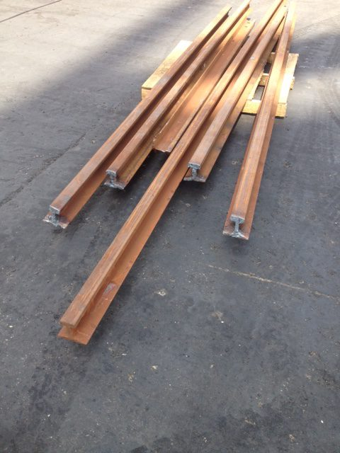 Ship to shore replacement crane rails